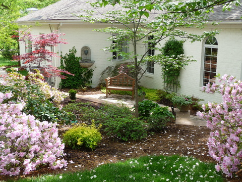 Side Gardens Can Become A Get Away Destination. The Azaleas Are Blooming  Here In April